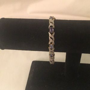 Purple an Rhinestone Bracelet